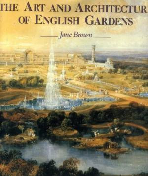 book cover showing formal garden with fountain
